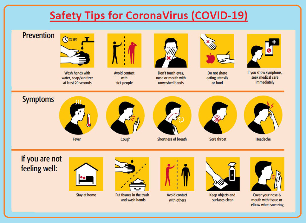 Safety Tips for Covid-19