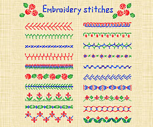 Types of embroidery stitches 2021