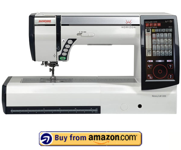 Janome Horizon Memory Craft 12000 - Best Embroidery and Sewing Machine 2021