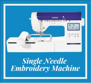 Single Needle Embroidery Machine 2021