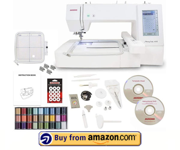 Janome Memory Craft 400E Embroidery Machine - Best Commercial Embroidery Machine 2021