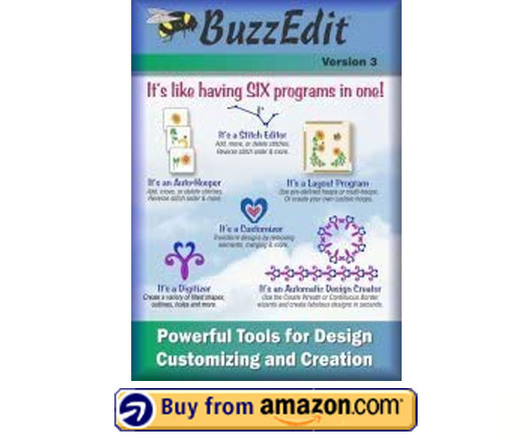 BuzzEdit v3 – Commercial Embroidery Digitizing Software 2021