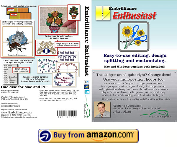 Embrilliance Enthusiast – Best Embroidery Software For Mac 2021