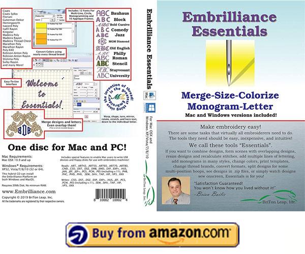 Embrilliance Essentials – Best Embrilliance Essentials Embroidery Software 2021