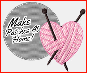 embroidery machine patches at home