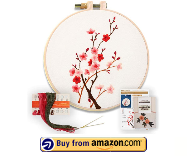 Akacraft DIY Embroidery Starter Kit - Best Stamped Embroidery Kits For Beginners 2021