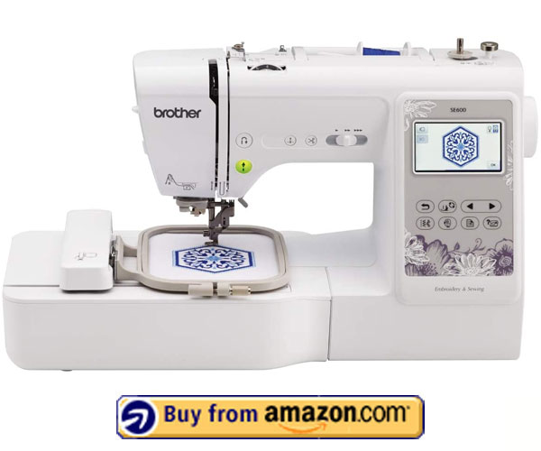 Brother SE 600 Review - best sewing and embroidery machine 2021