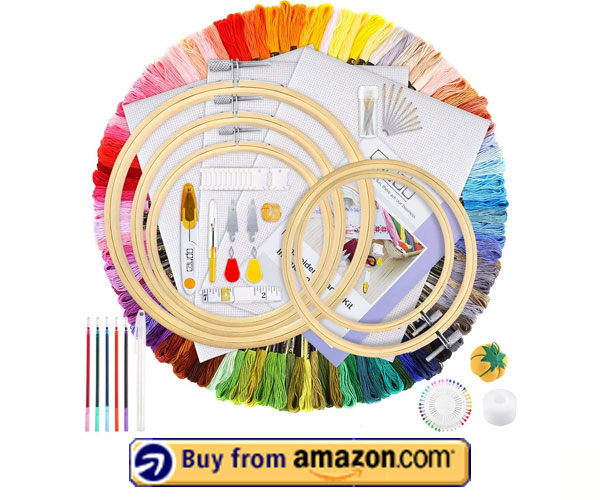 Caydo Hand Embroidery Kit - Large Embroidery Kit 2021