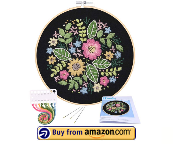 Full Range of Embroidery Starter Kit With Pattern - Best Embroidery Pattern Kit 2021