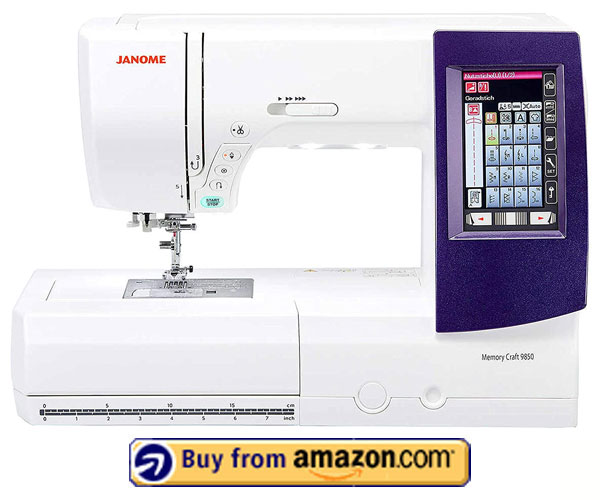 Janome Memory Craft 9850 – Best Industrial Embroidery Machine 2020
