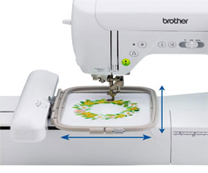 brother SE1900 Embroidery Area 2021